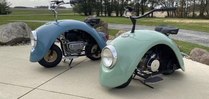 Ele desmontou um Fusca original e criou motocicletas estilosas