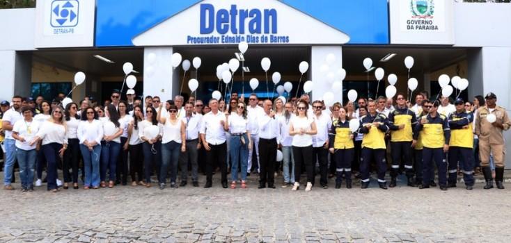 Detran Paraíba lembra as vítimas de trânsito em ato na sede de Mangabeira