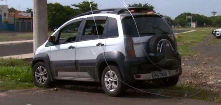 Simulação de acidente de trânsito alerta sobre riscos de choque elétricos