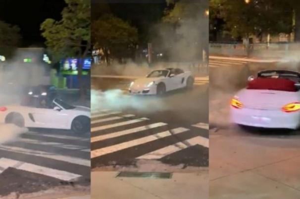"""Após """"cavalo de pau"""" em avenida, motorista pode responder por três infrações de trânsito"""