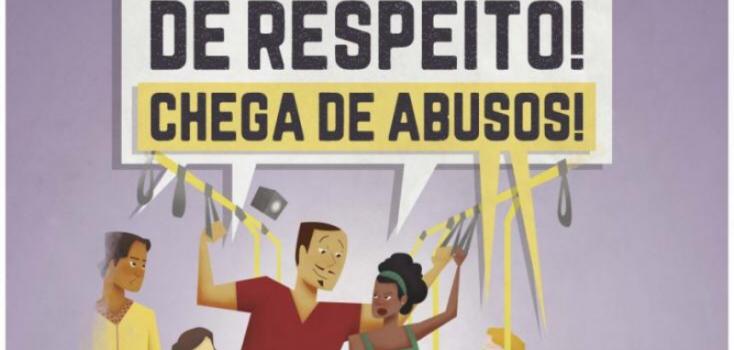 Campanha contra importunação de mulheres no transporte público