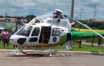Vídeo mostra momento em que hélice de helicóptero atinge caminhão