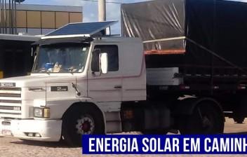 Caminhoneiros começam a usar placas solares nos caminhões