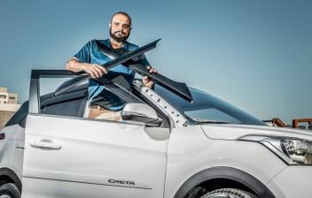Hyundai Creta vira alvo de roubos de moldura da coluna A