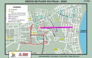 Semob-JP divulga plano de circulação para desfiles durante o Folia de Rua