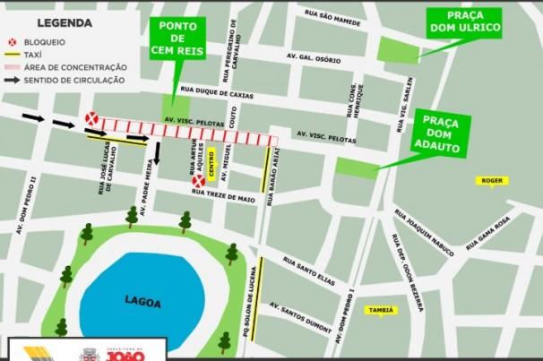 Visconde de Pelotas terá trecho interditado para abertura do Folia de Rua