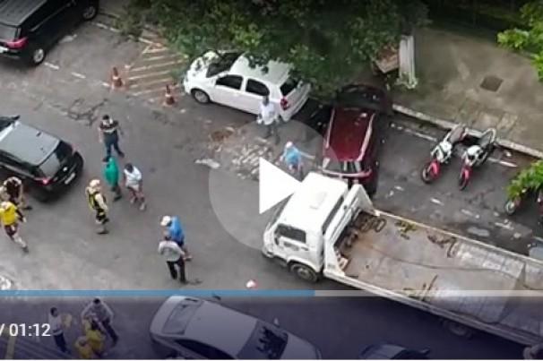 Vídeo: motorista de guincho e condutores brigam em Belém