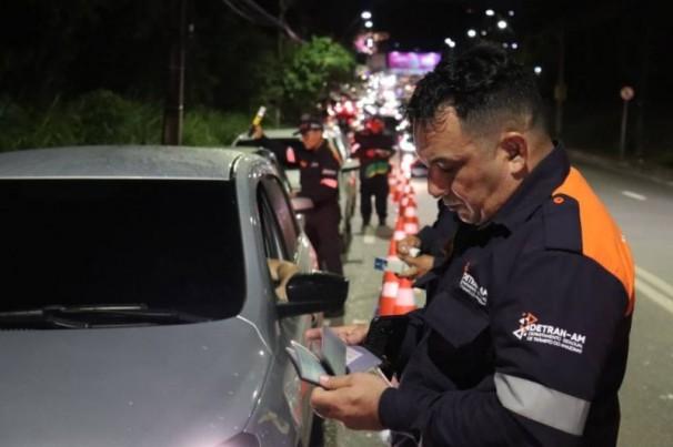 Em 10 horas de operação, Detran-AM flagra 105 motoristas alcoolizados