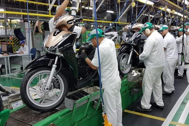 Produção de motos sobe 10,8% em março