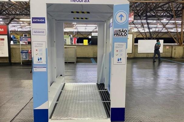 SP ganha cabine de higienização nas estações da CPTM