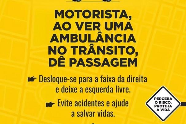 Dicas de Segurança: Dê passagem a ambulância