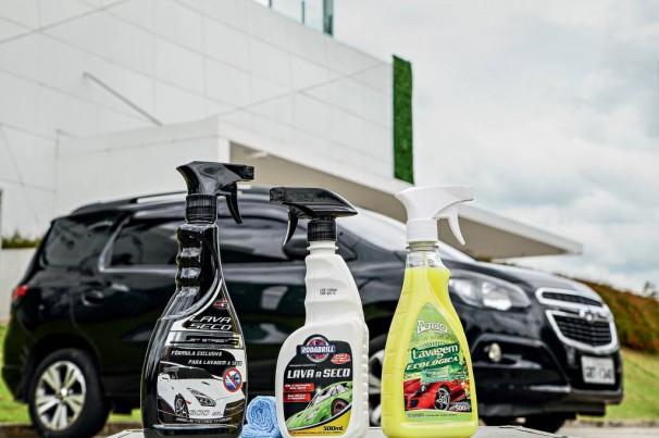 Qual lava a seco deixa o seu carro brilhando mais?