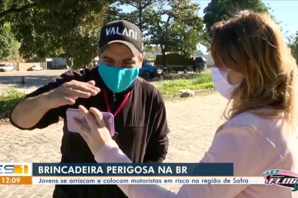 Vídeo: PRF flagra flogueiros na BR-101