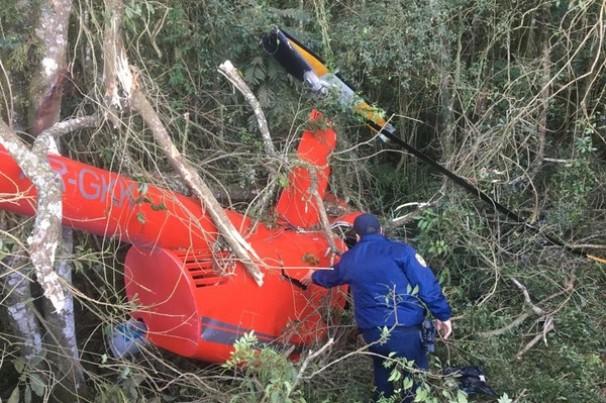 Helicóptero que transportava cocaína cai em Ibiúna/SP