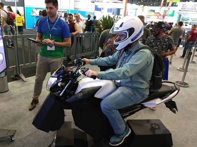 Salão Duas Rodas apresenta simulador de motocicletas