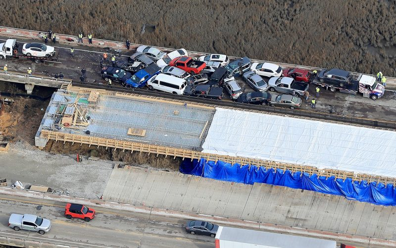 EUA: Dezenas de pessoas ficam feridas em acidente com mais de 60 veículos