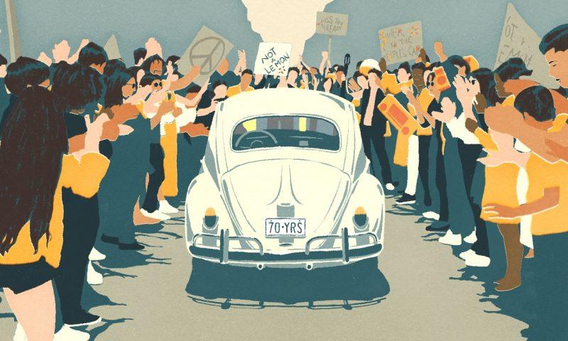 Vídeo: Volkswagen faz última homenagem de despedida ao Fusca