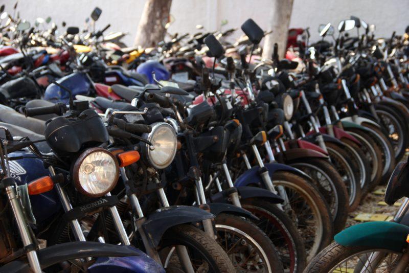 Detran marca leilão de 800 motos com lances a partir de R$ 10