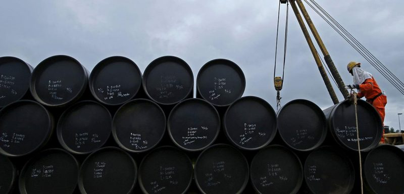 Preços dos petróleo caem com disparada