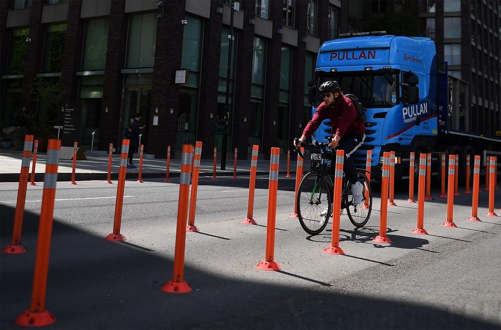Ciclistas querem ciclovias temporárias em São Paulo