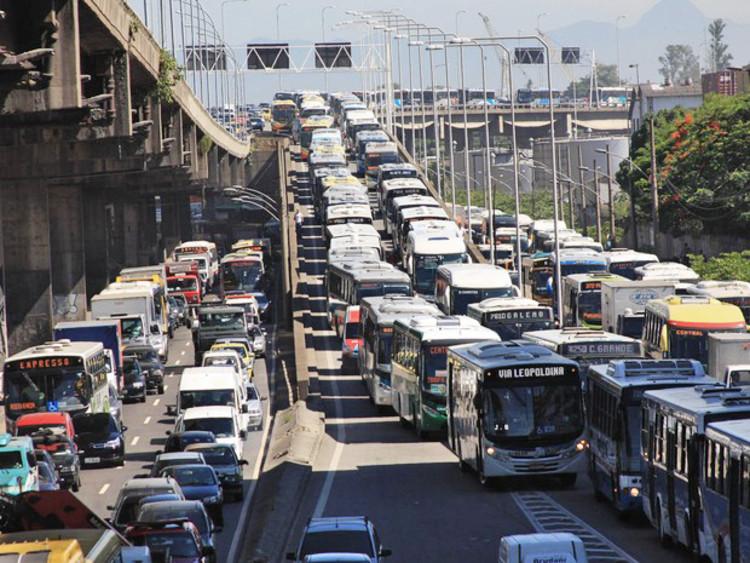 Congestionamento no Rio aumenta 500%